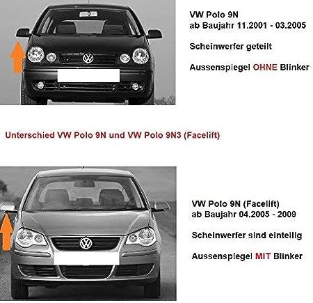 SPIEGEL SPIEGELGLAS FÜR VW POLO 9N 2005-2009 RECHTS ASPHÄRISCH