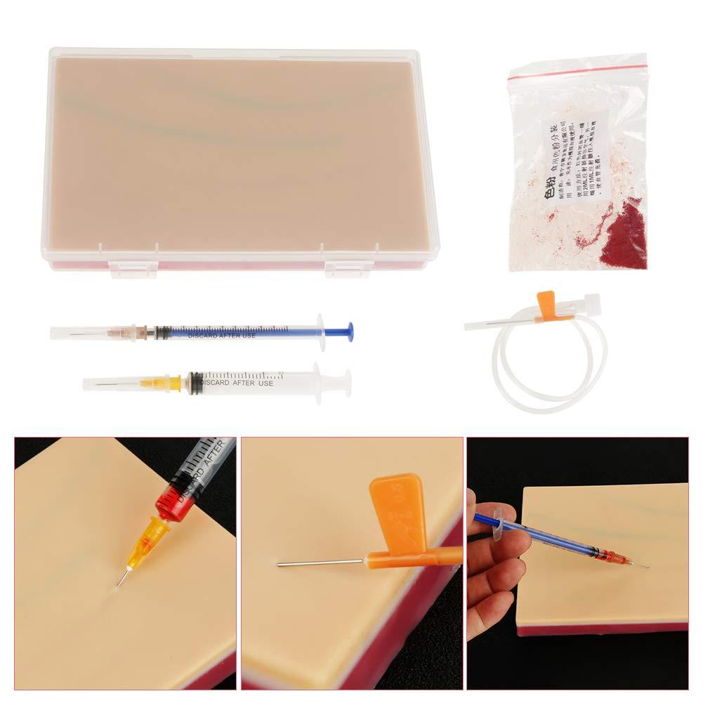 Kafuty Formaci/ón de inyecci/ón de Almohadilla de Piel Humana Modelo de Piel de Almohadilla de sutura Modelo de Piel m/édica repetida para Estudiante de enfermer/ía