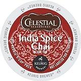 Celestial Seasonings India Spice Chai Tea, Single Serve Tea K-Cups, 48-Count For Brewers