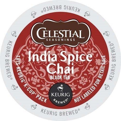 Spice Single - Celestial Seasonings India Spice Chai Tea, Single Serve Tea K-Cups, 48-Count For Brewers