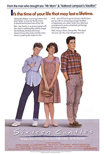 Sixteen Candles Movie POSTER 27 x 40 Molly Ringwald, Justin Henry, A, MADE IN THE U.S.A.