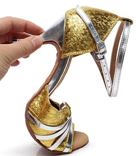 CFP - Zapatillas de danza de Material Sintético para mujer dorado