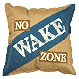 Primitives by Kathy Cotton No Wake Zone Throw Pillow For Sale