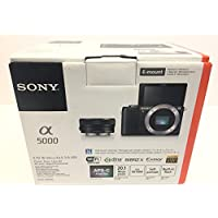Sony Alpha a5000 Mirrorless Camera with 16-50mm Retractable OSS Lens, Built-in Wi-Fi and NFC, 1080P Video and 3' Tiltable Touchscreen (black)