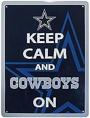 NFL Siskiyou Sports Fan Shop Dallas Cowboys Keep Calm Sign 12 inch Team Color