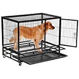 "Yaheetech 37"" Heavy Duty Dog Pet Cage Crates Kennel House Black Review"