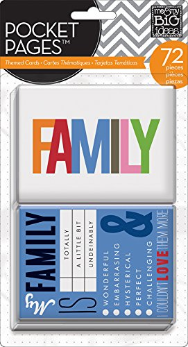- me & my BIG ideas Pocket Pages Journaling Cards, Family