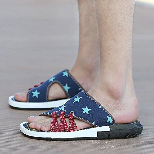Aihuwai Sandali Mens Sandali Estate Pantofole Sandali Uomo Sandali Antiscivolo Parola Sandali E Pantofole Sandali Casual Scarpe Da Uomo La Stella A Cinque Punte