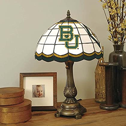Image of Desk Lamps Memory Company NCAA Baylor University Tiffany Table Lamp Baylor, One Size, Multicolor