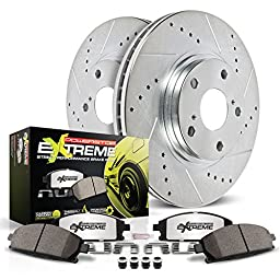 Power Stop K5954-26 Z26 Street Warrior Brake Kit (Extreme Performance Pads with Drilled/Slotted Rotors)
