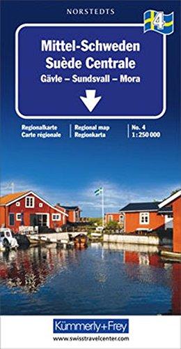 Kümmerly & Frey Karten, Mittel-Schweden (Regional Maps - Sweden)