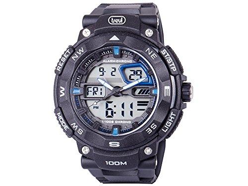 Trevi Reloj Digital para Hombre de Automático con Correa en Caucho SG320-00: Amazon.es: Relojes