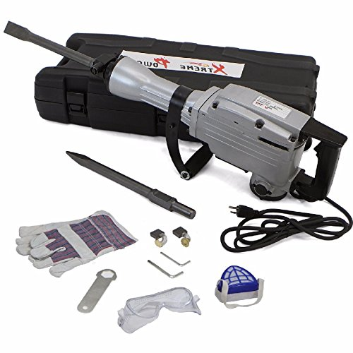 2200W Electric Demolition Jack Hammer 1900RPM Concrete Breaker Chisels Silver,NEW by Brand New
