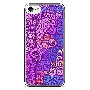 Loud Universe iPhone 7 Transparent Edge Case - Multicolor Swirl Pattern