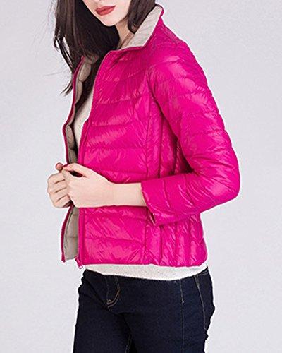 Corto Packable Ultraleggeri Rose Trapuntato Giacca Inverno Cappotto Donna Cachi Giacche Piumino 5IqxYWP4