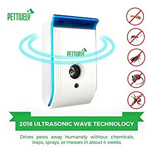 NEW 2018 Ultrasonic Pest Repeller Extended Range 4-Pack for Rodents Insects, Mosquitos, Mice, Ants, Spiders, Crickets, Flies, and others. 1600 sq. ft. effective range. Night Light. 3 colors available.