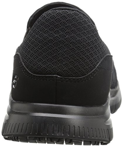 Skechers Men's Black Flex Advantage Slip Resistant Mcallen Slip On - 12 D(M) US