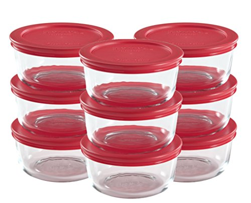 Pyrex 18-Piece Glass Food Storage Set with - Glass Rock 2 Piece Usa