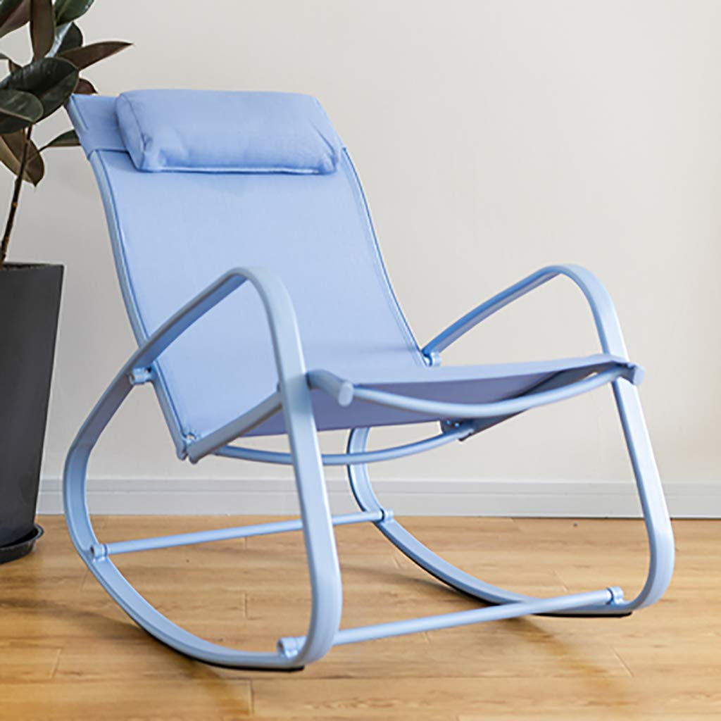 Aluminum Alloy Rocking Chair,Lounge Chair Recliners with Colorful Frame and Fabric Cushion-Modern Simple Style,Relaxing Leisure Chair by WY rocking chair