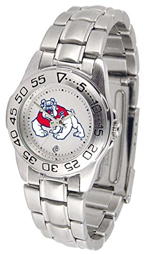 State Fresno Watch Wrist - Fresno State University Bulldogs Ladies Stainless Steel Wristwatch