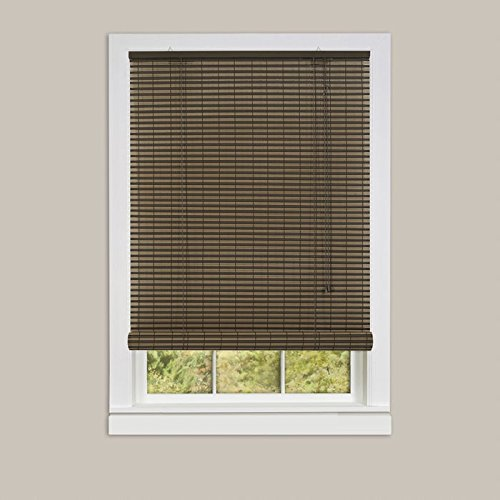 Ben&Jonah Park Avenue Collection Ashland Vinyl Roll-Up Blind 60x72 - Cocoa/Almond