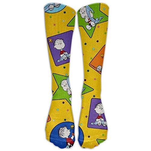 [NEW Peanuts Project Linus Athletic Tube Stockings Women's Men's Classics Knee High Socks Sport Long Sock One Size] (Adult Peanuts Linus Costumes)