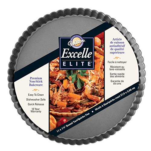Wilton Excelle Elite Non-Stick Tart Pan and Quiche Pan with Removable Bottom, 11-Inch by Wilton (Image #1)