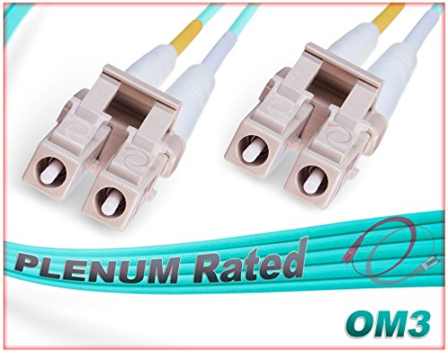 75M OM3 LC LC Fiber Patch Cable | Plenum 10Gb Duplex LC to LC Multimode 50/125 Jumper 75 Meter (246.06ft) | Length Options: 0.5M-300M | FiberCablesDirect - Made In USA | ofnp 10g lc mm patchcord lc-lc by FiberCablesDirect