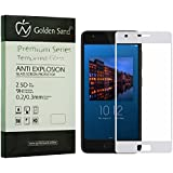 Deal Discount: Lenovo Z2 Plus Screen Guard, Premium Series Full Screen Tempered Glass for Lenovo Zuk Z2 - White Colour [Best Screen Protector for Lenovo Zuk Z2 Plus] - Edge to Edge Full Coverage 2.5D Glass, Case Friendly Design, 0.3mm, 9H Hardness, High Touch Sensitivity, Pixel-Perfect Clarity with Premium Installation kit by Golden Sand™