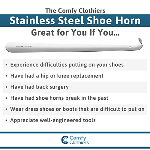 Comfy Clothiers 18-Inch Long Stainless Steel Shoe Horn by Comfy Clothiers (Image #4)