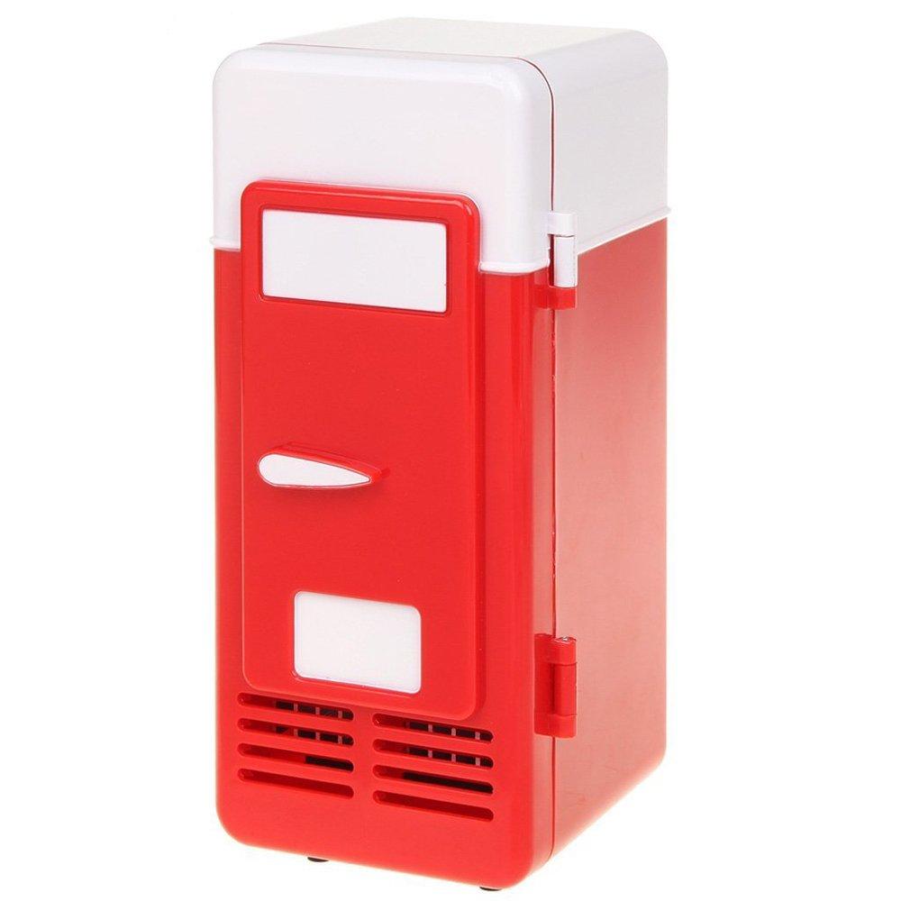 Mini PC USB Cooler & Warmer,Portable USB Beer Beverage Drink Cans Fridge Cans Cooler Warmer for Cold / Hot Beverage Drinks