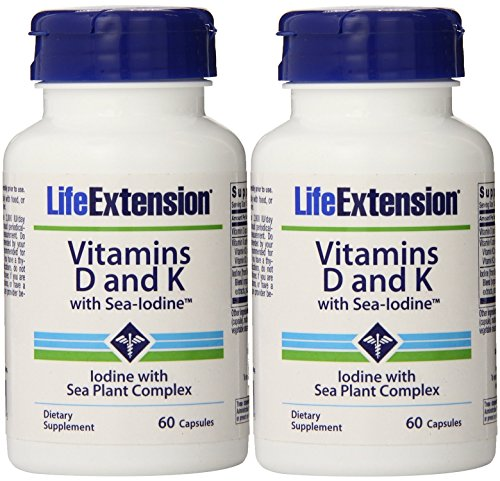 Vitamins D and K with Sea IodineTM 60 Capsules