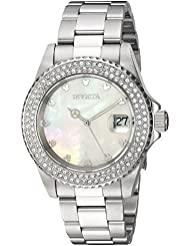 Invicta Womens Disney Limited Edition Quartz Stainless Steel Casual Watch, Color:Silver-Toned (Model: 22730)