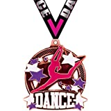 Crown Awards Dance Medal 3 Double Action 2.0 Gold Dance Medals