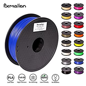 Pxmalion PLA 3D Filament, Blue, 1.75mm, Accuracy +/- 0.03mm, Net Weight 1KG(2.2LB), Compatible with most 3D Printer & 3D Printing Pen