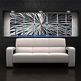 cosmic energy stones - Modern Abstract Metal Wall Art Large Metal Art Panels