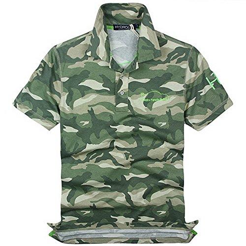 HYDROGEN ポロシャツ メンズ ゴルフ コットン 綿 100% 半袖 夏 プリント18727299 [並行輸入品]