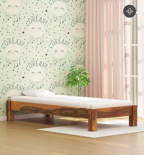 Savannah Solid Wood Single Bed in Rustic sheesham Wood letest Design Single Bed Teak Finish by KR Woods