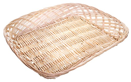 Multipurpose Willow File/Serving Tray Basket Letter Size Paper Document Storage Organizer in Natural Finish - 15 x 12 x 2.5 Inches (Stacking Baskets Wicker)
