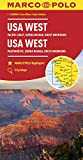 Etats-Unis ouest : Côte Pacifique, Sierra Nevada, Rocky mountains 1 : 2 Mio