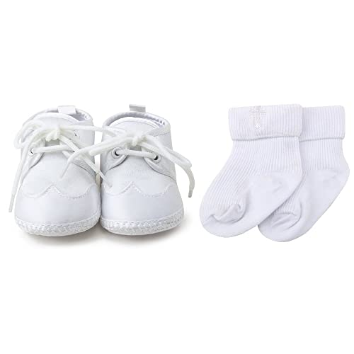 Amazon Com Oosaku Baby Boys White Lace Up Christening Baptism