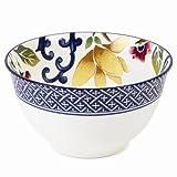 Ralph Lauren Mandarin 4.5'' Fruit Bowl, Set of 4, Blue & White Porcelain