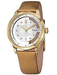 Stuhrling Original Women's 946L.03 Winchester Quartz Gold Tone Transparent Dial Champagne Leather Watch