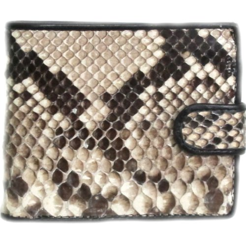 genuine-python-leather-bifold-wallet-with-closed-snap-size-35-x-42-inches