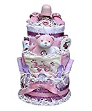 Babygiftidea 3 Tiered Diaper Cake- Girl
