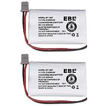 EBL 2 Pack Rechargeable Replacement Battery for Uniden BT1007 BT-1007 BT904 BT-904 BT1015 Cordless Phone Battery