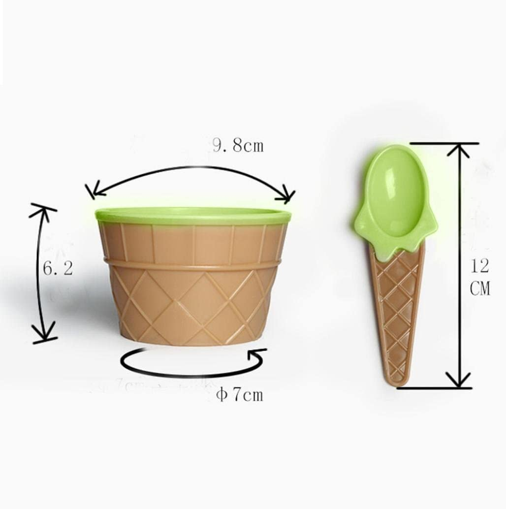 SHOBDW 1PC Kids lovely ice cream bowls ice cream cup Couples bowl gifts Dessert All Colors Ice Cream Bowls 6 pcs