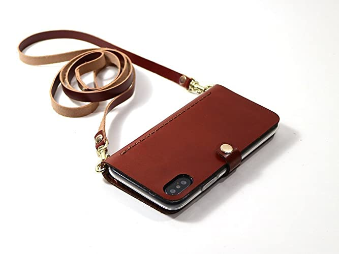 cheaper 633a7 4056b iPhone X case Crossbody Bag Wallet Purse Cellphone Pouch with Shoulder  Strap for Women Girls iPhone Leather Phone Case with Pocket and Long Strap  ...