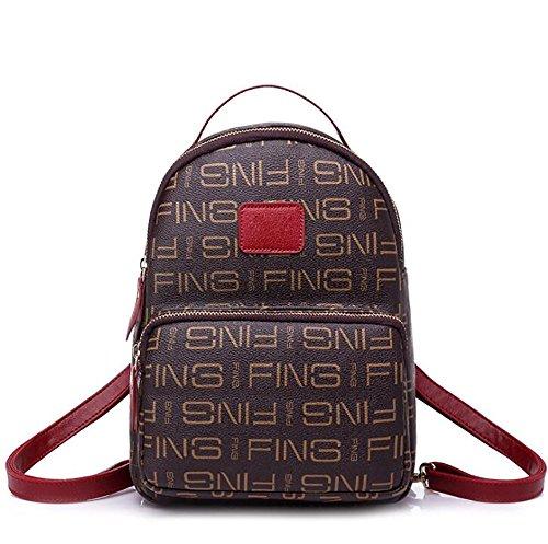main sac à en à femmes multifonctionnel Sac de  cuir souple mode de dos 22 sac décontracté PU wf6XRq7