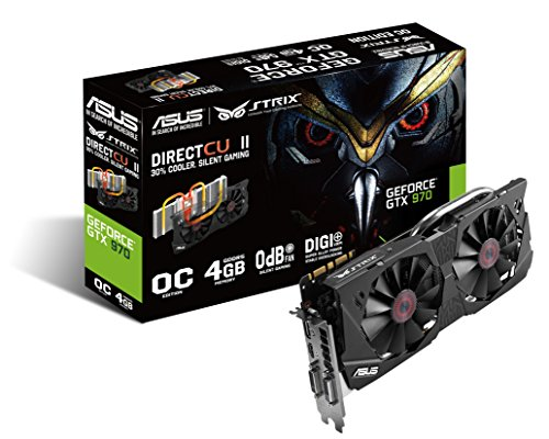 Placa de Video Geforce 4GB DDR5 256Bit, Asus, STRIX-GTX970-DC2OC-4GD5